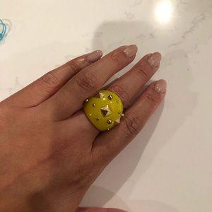 Bar III Yellow Studded Ring